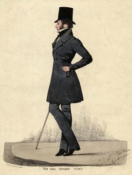 Man in Black 1820s. Date: 1820s