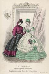 Ball Dress - Bouquet 1861. Date: 1861