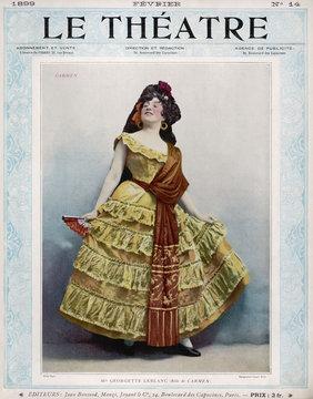 Leblanc As Carmen - 1899. Date: 1875
