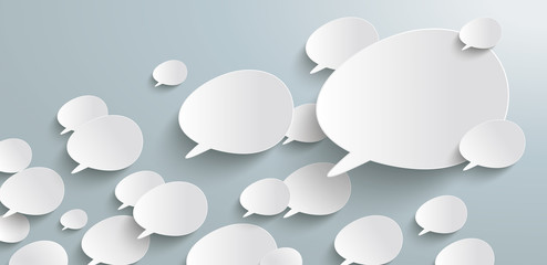 Bevel Speech Bubbles Growth Header Infographic