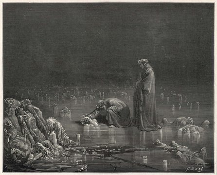 Dante - Virgil on Ice. Date: 1307-21