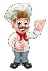 Chef Cartoon Character Mascot