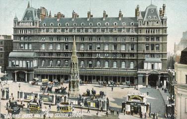 Fototapete - Charing X Station. Date: circa 1900