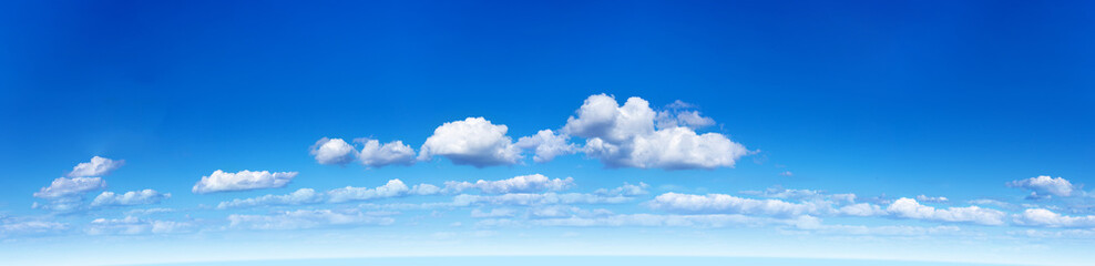 Panorama of the blue sky with clouds Wall mural