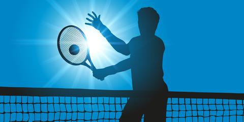 tennis - match - symbole - champion - concept - balle de tennis - tennisman