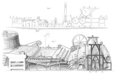 Paper Making Machine1853. Date: 1853