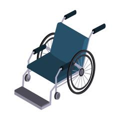 Wheelchair isometric icon