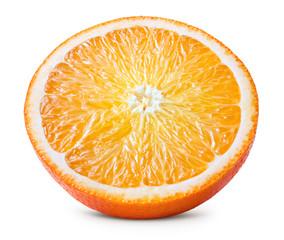 Orange. Orange slice. Round slice isolated on white background. With clipping path.