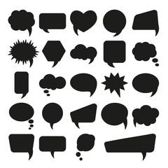 Bubble speech set. Different shapes