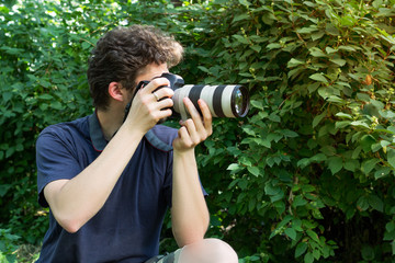 A portrait photographer who takes the photo.