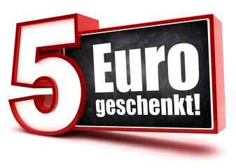5,- Euro geschenkt! Button, Icon