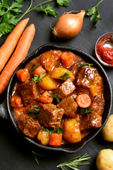 Goulash, beef stew, top view