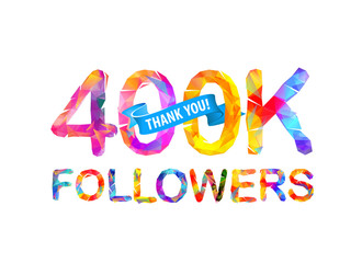 400K followers. Thank you!