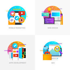 Flat Designed Concepts - Mobile Marketing, Web Design, Apps Development and Seo Optimization