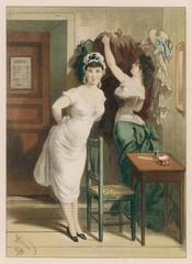 Changing in Bathing Hut. Date: 1878