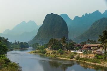 Vang Vieng and the Mekong River, Laos