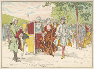 French Sedan Chair. Date: early 18th century