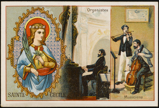 St Cecilia - Liebig Card. Date: 2nd - 3rd century
