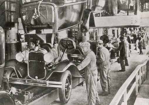 Ford Assembly Line 1929. Date: 1929
