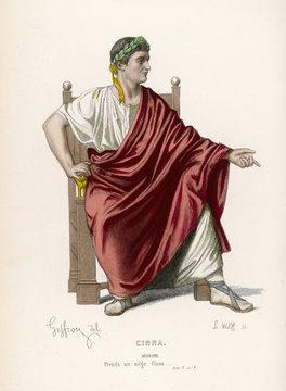 Ancient Roman Costume. Date: circa 1