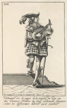 1629 Lute Player. Date: 1629