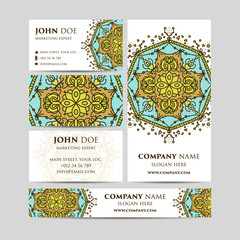 Big templates set. Business cards, invitations and banners. Oriental design Layout. Vintage decorative elements. Islam, Arabic, Indian, moroccan,spain, turkish, pakistan, motifs.