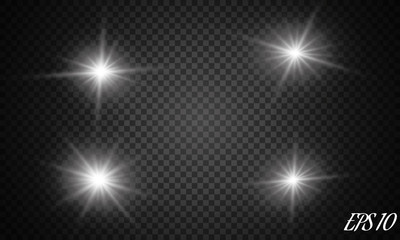 Vector isolated spotlight. Light effect