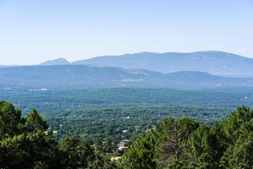 Landscape of Piedralaves, Avila, Spain