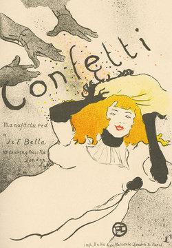 Advert - Lautrec Confetti. Date: circa 1896