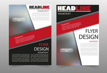 Flyer business brochure flyer design layout  template. Can be used for publishing, print and presentation. Vector. Eps 10