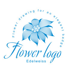 Edelweiss is a logo template, a flower for an elegant corporate identity with symbol of an open edelweiss flower, a water lily, a lotus or other abstract floret.