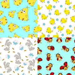 Pattern seamless collection for children.