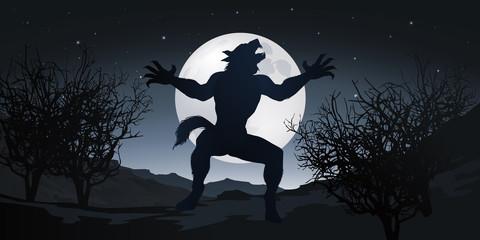 Loup-Garou - loup - horreur - créature - clair de lune - peur - animal - fantastique