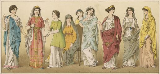 Fototapeta Ancient Roman Women. Date: circa 100 BC