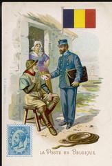 Belgian Postman. Date: circa 1900