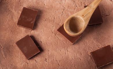 Chocolate ice cream texture,