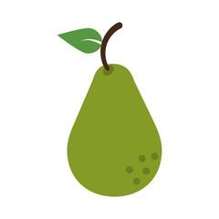 whole pear fruit icon image vector illustration design