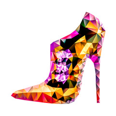 low poly high heels