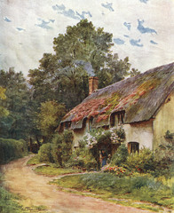 Cottage Near Dunster. Date: 1927