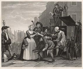 William Hogarth - The Rake's Progress. Date: 1735