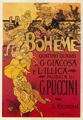 La Boheme opera score by Giacomo Puccini. Date: 1896