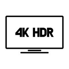 4k HDR format logo