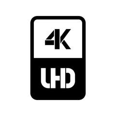 4k Ultra HD format logo