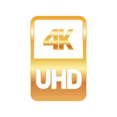 4k Ultra HD format gold logo