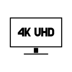 4k Ultra HD format logo with letters