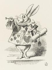 Alice - Rabbit as Herald. Date: 1865