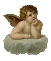 Cherub Looking to Right. Date: 19th century