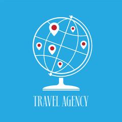 Travel agency vector logo, emblem