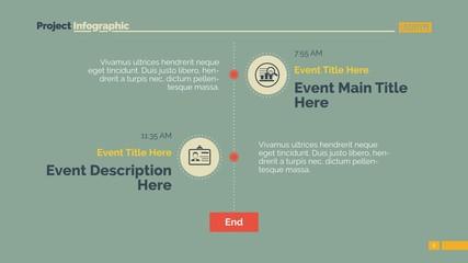 Vertical timeline slide 3