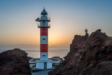 Tourist at Teno Lighthouse